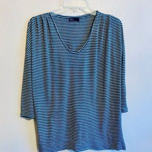 GAP Lightweight Rayon Deep V Tee Shoulder Detail